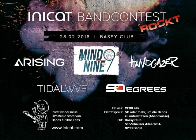 Inicat Bandcontest - Flyer